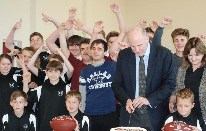 The opening of Sheringham High School American Football Club