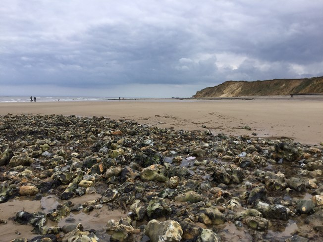 West Runton beach looking east