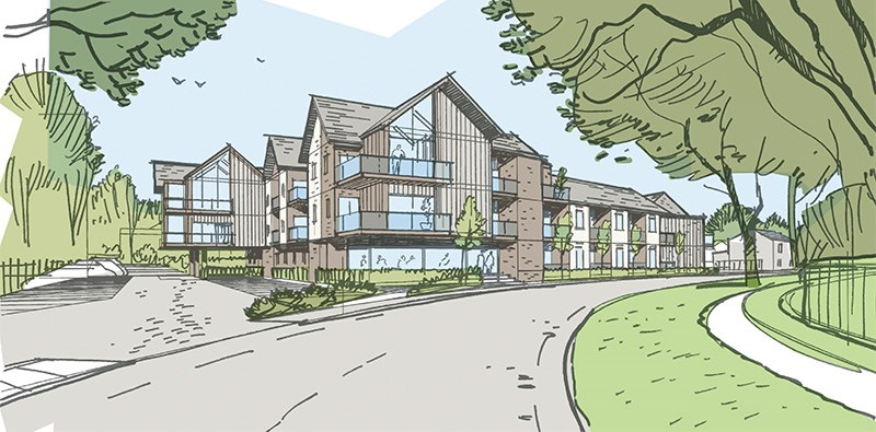 Artists impression of Highfield Road Development