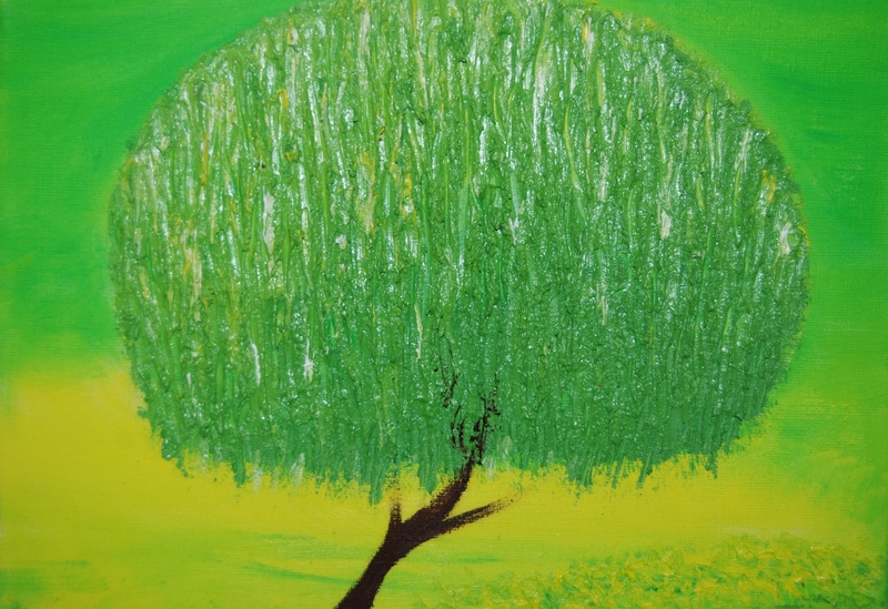 Green Tree by Anna Ovenden