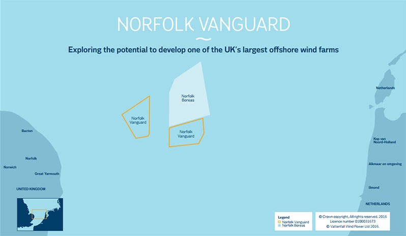 North Norfolk District Council issues response to Vattenfall Norfolk Vanguard offshore Windfarm