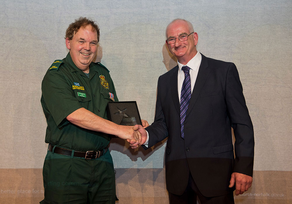 Cllr John Lee to Tim Thirst Stalham and Smallburgh Ambulance First Responders