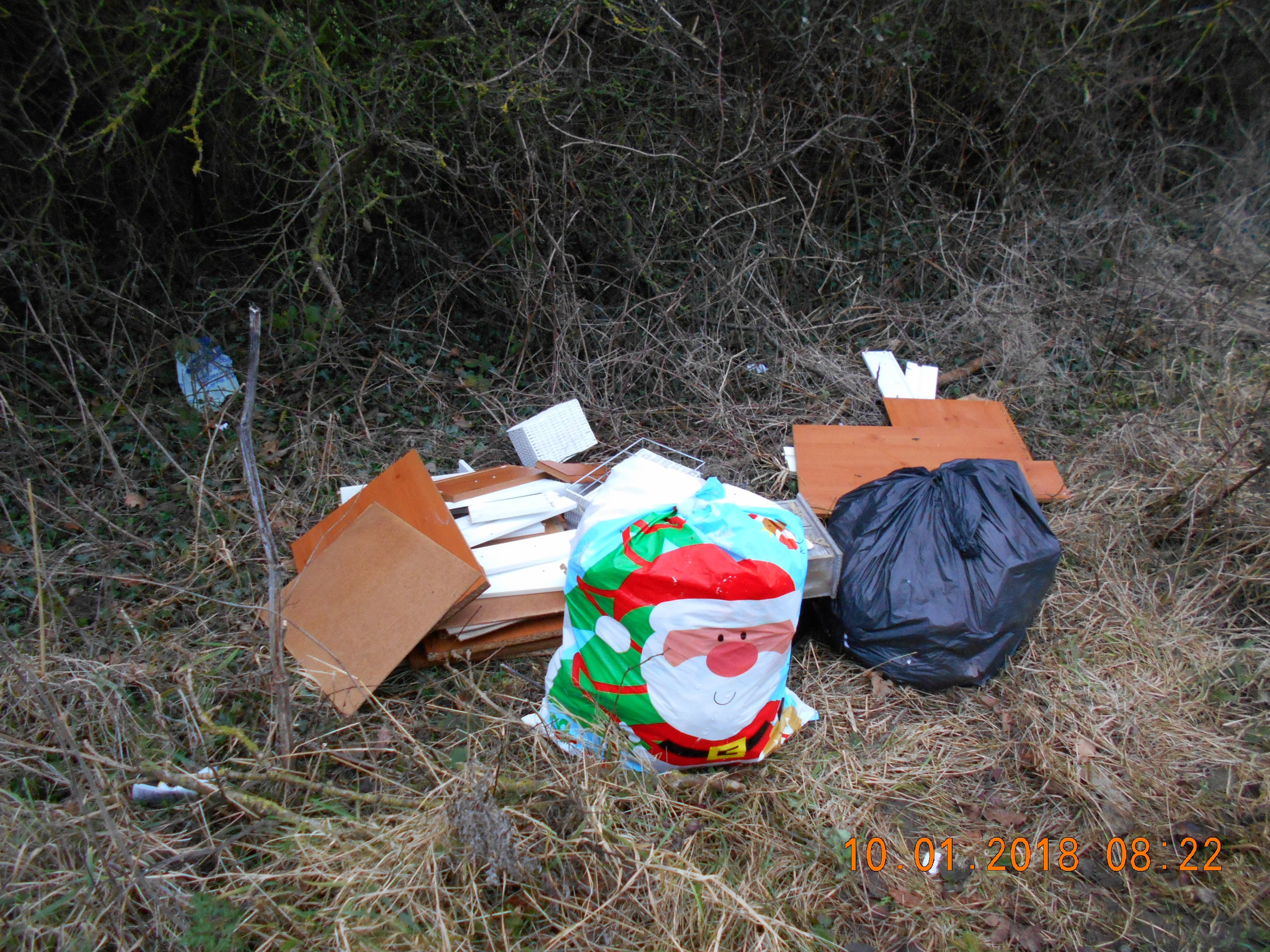 Fly-tipping of household waste results in a bill of £1,557