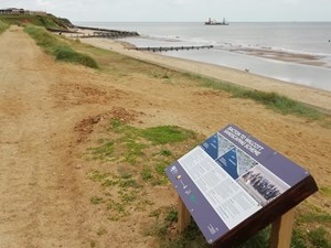 Offshore barge at Bacton – latest stage of Sandscaping project