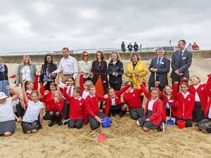Celebrations mark successful completion of sandscaping project